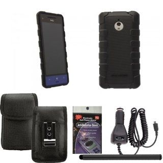 BodyGlove Dropsuit Case for HTC 8xt. Comes with Car Charger, Stylus Pen and Vertical Metal Clip Case that fits your phone with the Cover on it and Radiation Shield. Cell Phones & Accessories