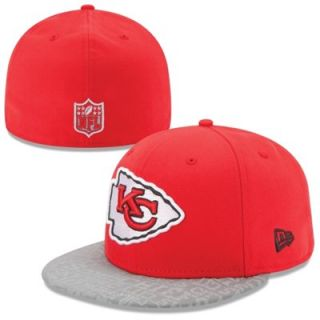 Mens New Era Red Kansas City Chiefs 2014 NFL Draft 59FIFTY Reflective Fitted Hat