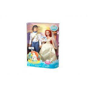 Exclusive Disney Princess The Little Mermaid Wedding Dolls   Ariel & Prince Eric Toys & Games