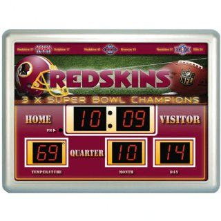 Shop NFL Washington Redskins Football Scoreboard Wall Clock with Date & Temperature at the  Home D�cor Store