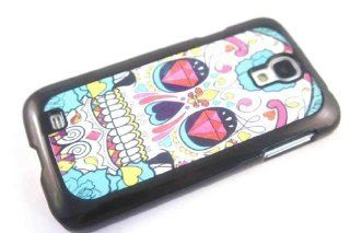 SAMSUNG GALAXY S4 i9500 Black Frame Sugar Skull Multi Tattoo Trend Fashion Diamond Eyes Case Back Cover Hard Plastic And Metal Cell Phones & Accessories