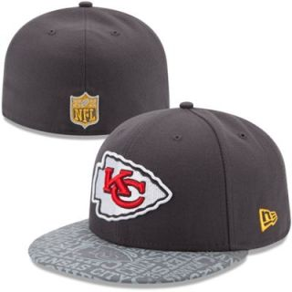 Youth New Era Graphite Kansas City Chiefs 2014 NFL Draft 59FIFTY Fitted Hat