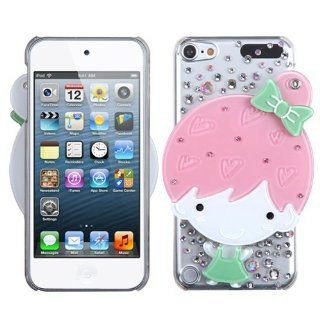 Fits Apple iPod Touch 5 (5th Generation) Snap on Cover Summer Girl Crystal 3D Mirror Diamond (does NOT fit iPod Touch 1st, 2nd, 3rd or 4th generations) Cell Phones & Accessories