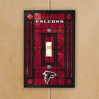 Atlanta Falcons Red Art Glass Switch Plate Cover
