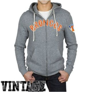 Junk Food Denver Broncos Sunday Hoodie   Ash