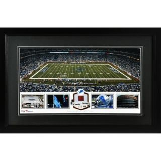 Ford Field Detroit Lions Framed Panoramic Collage with Game Used Football Limited Edition of 500