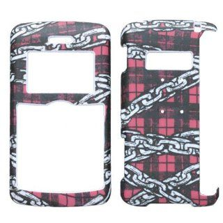 Hard Plastic Snap on Cover Fits LG VX9200 enV3 Lizzo Chain Plaid Verizon (does NOT fit LG Env2 VX9100) Cell Phones & Accessories