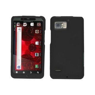 Hard Plastic Snap on Cover Fits Motorola XT875 MB875 Droid Bionic Targa Black Rubberized Verizon (does not fit Motorola XT865 Droid Bionic Etna) Cell Phones & Accessories