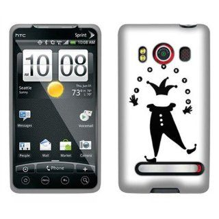 Hard Plastic Snap on Cover Fits HTC EVO 4G PC36100 Supersonic Invisible Clown Sprint (does not fit HTC EVO 4G LTE) Cell Phones & Accessories