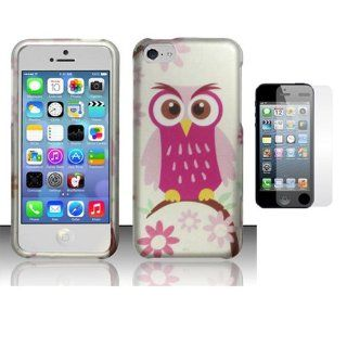 Hard Plastic Snap on Cover Fits Apple iPhone 5 5S Pink Baby Owl + Screen AT&T, Cricket, Sprint, Verizon (does NOT fit Apple iPhone or iPhone 3G/3GS or iPhone 4/4S or iPhone 5C) Cell Phones & Accessories