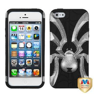 Hard Plastic Snap on Cover Fits Apple iPhone 5 5S Black Plating Matte Wrinkle/Black Spiderbite Hybrid Plus A Free LCD Screen Protector AT&T, Cricket, Sprint, Verizon (does NOT fit Apple iPhone or iPhone 3G/3GS or iPhone 4/4S or iPhone 5C) Cell Phones