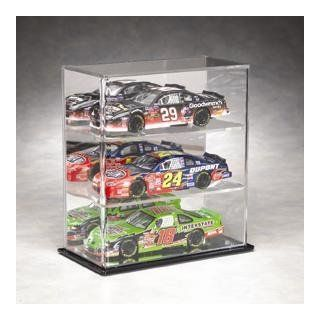 Three Car 1/24th Scale Die Cast Display Case with a Mirrored Back