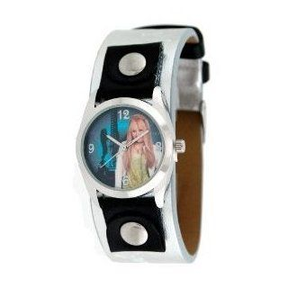 Hannah Montana Silver Band Leather Watch   Super nice watch for girls (For age of 5+) Toys & Games