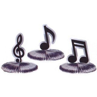 Musical Notes Mini Honeycomb 5in Decoration 3ct Toys & Games