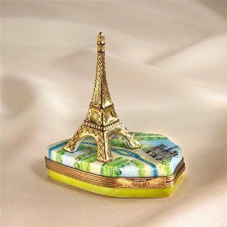 Limoges Eiffel Tower with French Base box   Decorative Boxes