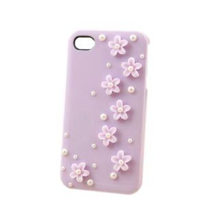 HOHONG (TM) Cute 3D Flower Design Cover Case for iPhone 4S / iPhone 4G   Purple( Fits iPhone 4S / 4G from Verizon, AT&T, T Mobile, Sprint, Orange ) Cell Phones & Accessories