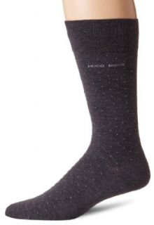BOSS HUGO BOSS Men's Luke Pindot Dress Socks, Charcoal, One Size at  Men�s Clothing store