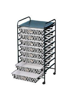 Storage Solutions� 1650Z4 Eight Drawer Zebra Pattern Poly Cart. Cart Includes Eight 12inch by 12inch sliding drawers with Castors   Storage And Organization Products
