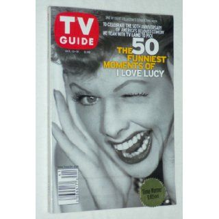 "TV GUIDE   The 50 Funniest Moments of ""I LOVE LUCY"" (Lucille Ball Cover) One of Eight Collector's Covers   October 13 19, 2001 TV Guide Magazine Group Books"