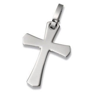 Stainless Steel Cross Pendant with G Lock Bail Jewelry