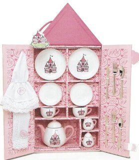 Princess Castle Girl's Little Tea Party Set Pretend Play Toy Tea Gift Set in Case *Perfect Gift Idea for Children, Girls, Birthday, Holiday, etc.* Toys & Games