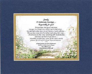 [Personalized Poem for Retirement] A Retirement Message Especially For You . . .Poem on 11 x 14 inches Double Beveled Matting (Blue On Gold)   Prints