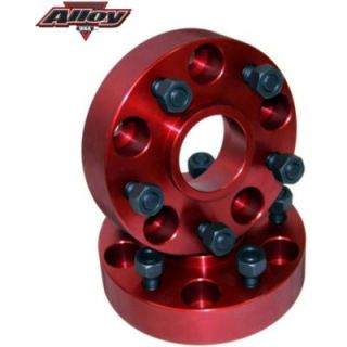 1976 1986 Jeep CJ7 Wheel Spacer   Alloy USA, Billet Aluminum Wheel Spacer; 1.25 Inch Thick; 5 On 5.5 Inch Bolt Pattern; Red