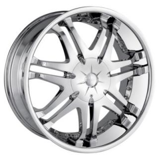 DIP Wheels D25 (Phantom) Chrome Wheels