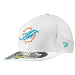 New Era NFL 59Fifty Sideline Cap   Mens   Football   Accessories   Miami Dolphins   White