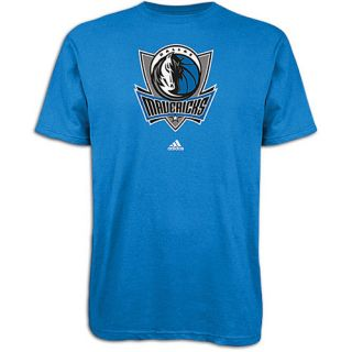 adidas NBA Primary Logo T Shirt   Mens   Basketball   Clothing   Dallas Mavericks   Bright Blue