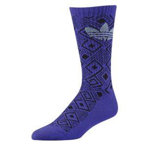 adidas Originals Geometric Crew Socks   Mens   Casual   Accessories   Night Sky/Tech Grey/Collegiate Gold