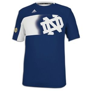 adidas College Sideline Player Crew   Mens   Basketball   Clothing   Notre Dame Fighting Irish   Navy