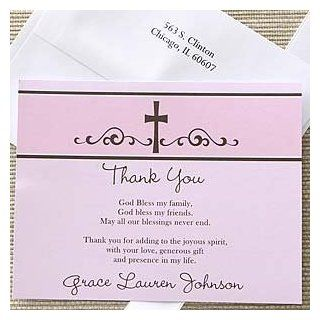 Religious Prayer Girl's Personalized Thank You Note Cards  Blank Note Card Sets