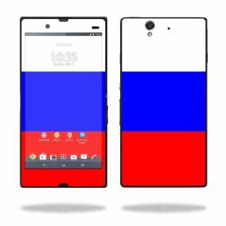 MightySkins Protective Vinyl Skin Decal Cover for Sony Xperia Z 4G LTE T Mobile Sticker Skins Russian Flag Electronics