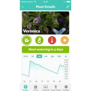 Parrot Flower Power   Wireless Indoor/Outdoor Bluetooth Smart Plant Sensor with Free dedicated App   Blue  Players & Accessories