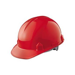 Jackson Safety 14841 SC 6 High Density Polyethylene Hard Hat with 4 Point Ratchet Suspension, Red (Pack of 12) Hardhats