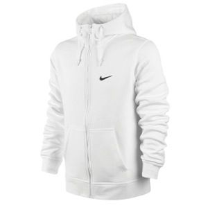 Nike Club Swoosh Full Zip Hoodie   Mens   Casual   Clothing   White/Black