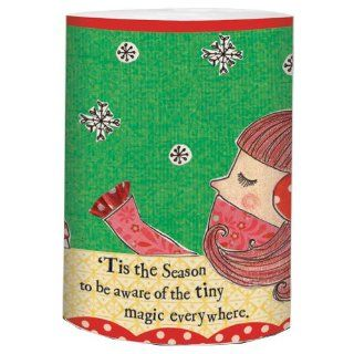 Santa Barbara Design Studio Curly Girl Holiday 4 Inch LED Candle, Magic Everywhere