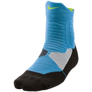 Nike Hyperelite  High Quarter Socks   Basketball   Accessories   Vivid Blue/Black/Volt