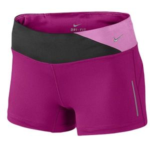 Nike Dri Fit Epic Run Boy Shorts   Womens   Running   Clothing   Bright Magenta/Black/Red Violet/Matte Silver