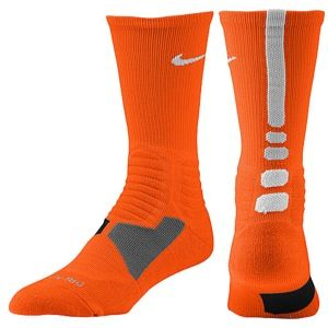 Nike Hyper Elite Basketball Crew Socks   Mens   Basketball   Accessories   Team Orange/White