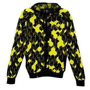 LRG Retro Eternity Full Zip Hoodie Sweater   Mens   Casual   Clothing   Neon Lime