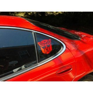 Transformers Autobot Vinyl Decal Sticker   Red Automotive