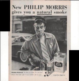 Philip Morris Cigarettes Gives You A Natural Smoke 1957 Antique Advertisement  Prints