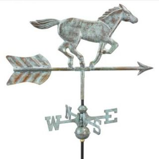 Good Directions Horse Garden Weathervane   Blue Verde   Weathervanes