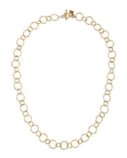 18k Yellow Gold Circle Link Necklace, 18L   Armenta   Gold (18)