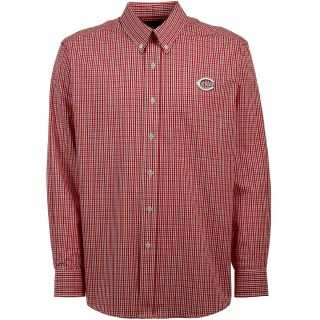 Antigua Cincinnati Reds Mens Monarch Long Sleeve Dress Shirt   Size Medium,