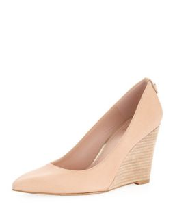 Logopower Point Toe Wedge Pump, Flesh   Stuart Weitzman   Flesh (40.0B/10.0B)