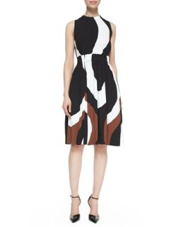 Womens rio swirl print back tie dress   kate spade new york   Neautral rio