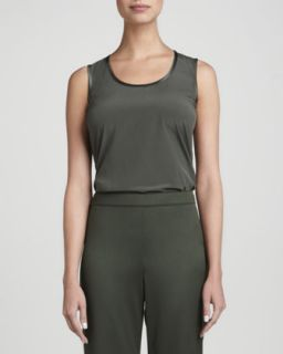Womens Scoop Neck Knit Tank, Loden   St. John Collection   Loden multi (4)